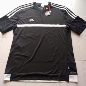 Adidas Vented V-Neck Tee NWT 3 stripes on sleeves